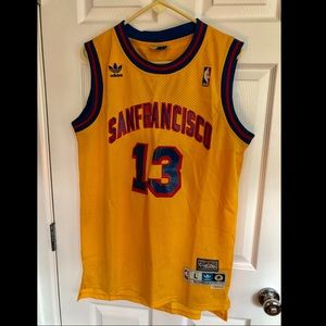 quality design 60fbd 69b22 Yellow Wilt Chamberlain Warriors Jersey - Size L